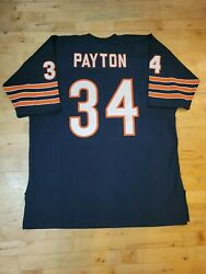 1975 Authentic Vintage Walter Payton Chicago Bears Jersey Mitchell Ness 60 4xl