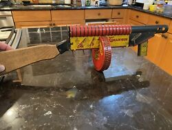 """Marx """" G Man Gun 1930's Tin Lithographed In Working Condition Rare"""