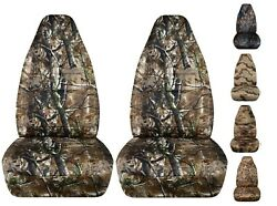 Front Set Highback Bucket Seat Covers Fits Ford F150 Truck 1992-2003 Camouflage