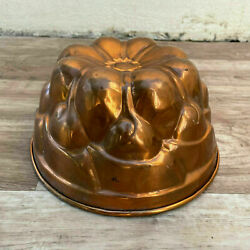 French Tin Lined Hammered Copper Mold Cake Jelly Aspic 24072122