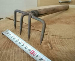 9 Cm Japanese Woodworking Carpentry Tools Rake Kumade Old Furniture Antique Used