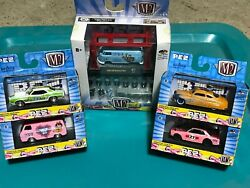 M2 Machines Pez 1/64 Lot Of 5 Model Kit And 4 Cars