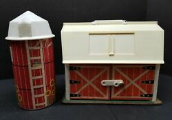 Vintage Fisher Price Play Family Farm Barn And Silo 1967 Original Toy 60's