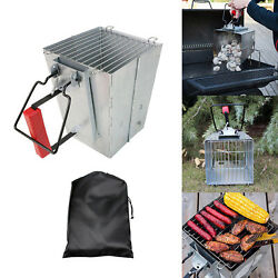 Folding Charcoal Chimney Fire Starter For Camping Grill Stove Barbecue