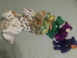 Rare Ty Beanie Baby Bundle Great Condition Incl. 1st Edition Princess Diana