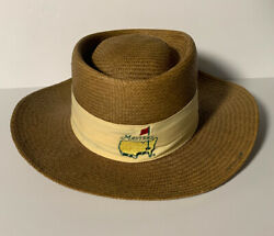 Vintage Masters Straw Hat Augusta Made In Usa Texace Unihat Golf Hat Pga