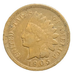 1905 Us Indian Head Cent Penny Vf Free Shipping 7221