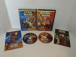Star Wars - Clone Wars Volume 1 And 2 Dvd, 2005 Complete With Inserts Oop