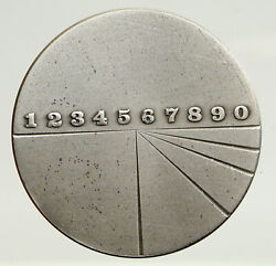 1974 Israel Large Technion Jubilee Technology Institute Old Silver Medal I93338