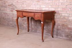Baker Furniture French Provincial Louis Xv Cherry Wood Writing Desk
