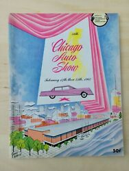 Chicago Auto Show Program From 1962 54th Annual Show