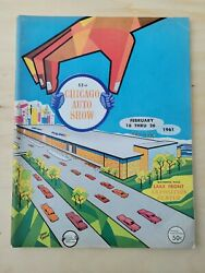 Chicago Auto Show Program From 1961 53rd Annual Show