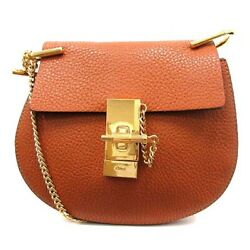 CHLOE Drew Bag Shoulder Leather Chain Tea 37 Woman From Japan Shippingfree $527.92