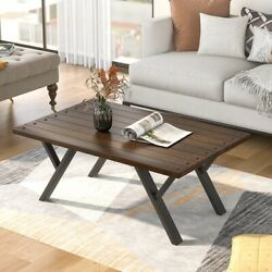 Sofa Coffee Table Black Low Square Wooden Four-legged Desk Home Office Furniture