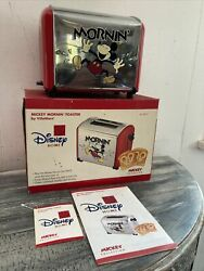 Vintage Disney Chrome Mickey Mouse Morninand039 Musical Red Toaster V5555-11 Rare
