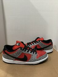 Supreme Nike Dunk Low Red Cement 2012 Sz 13 Used 313170-600