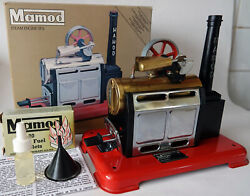 Vintage Mamod Sp2 Brass And Metal, Chimney Exhaust Steam Engine Boxed +funnel +oil