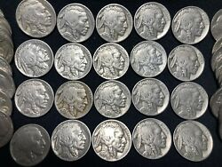 Roll Of 40 Buffalo Nickels.andnbsp Full Strong 4 Digit Dates. 2nd-4th Rolls Ship Free.