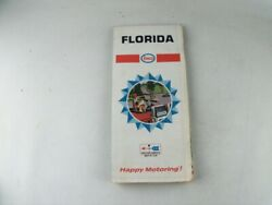 Vintage 1967 Florida Road Map From Enco Humble Gas And Oil Company