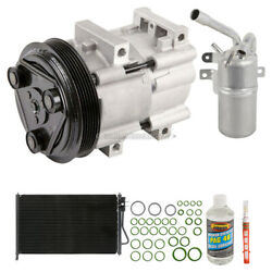 For Ford Focus 2000 2001 2002 A/c Kit W/ Ac Compressor Condenser And Drier Gap