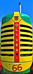 66 Art Print One Of A Kind Oliver Super 66 Tractor Grill Canvas Art