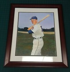 1969 Ws Ny Mets Bud Harrelson Original Watercolor Painting By James Fiorentino