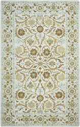 Rizzy Home Ashlyn Collection Wool Area Rug 10and039 X 14and039 Ivory/blue