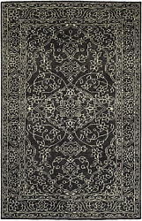 Kaleen Herrera Collection Hand-knotted Area Rug 9and039 X 12and039 Charcoal
