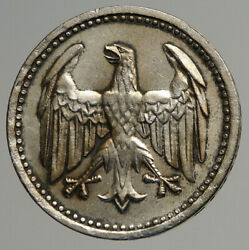 1924 A Germany Weimar Republic Eagle Vintage Antique Silver 3 Mark Coin I93859