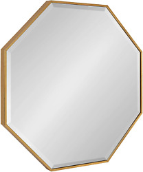 Kate And Laurel Rhodes Glam Octagon Wall Mirror 29 X 29 Gold Modern Home