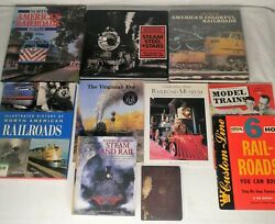 Mixed Lot Of 10 Railroad And Train Books