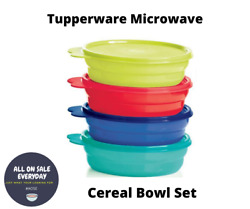 New - Tupperware Microwave Safe Cereal Bowls And Seals Set Impressions