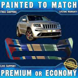 Painted To Match Bumper Cover For 2012 2013 Jeep Grand Cherokee Srt8 W/park Asst