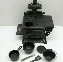 Queen Miniature Toy Cast Iron Stove And Accessories Free Shipping