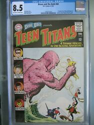 Brave And The Bold 60 Cgc 8.5 Dc 1965 1st App New Wonder Girl Donna Troy