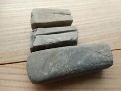Medieval Set Of 3 Stone For Sharpening And Honing Weapons And Tools 12-13 Ad