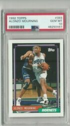 Alonzo Mourning 393 Psa 10 Gem Mint 1992-1993 Topps Hof Rookie Card Rc New Case