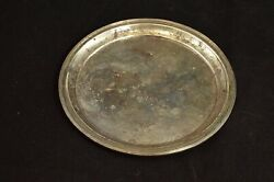 Sterling Silver 1935 Grooved Trim Plate Dish Fine Silver 67