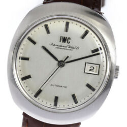 Wristwatch Schaffhausen Antique Menand039s Used Silver Brown Automatic 35mm