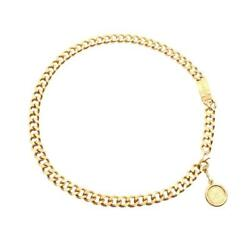 Coco Mark Chain Belt Gp Gold Coin Logo Plate Vintage 94a Shippingfree