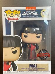 Funko Pop Avatar Last Airbender Mai With Knives 1003 Special Edition Exclusive