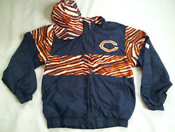 Vintage Made In Usa Chalk Line And Ajd Chicago Bears Zubaz Jacket Size S And Hat