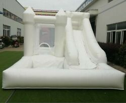 Commercial Inflatable White Bounce House Wedding Castle Adults Kids With Blower