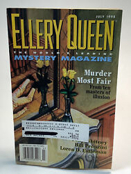 Ellery Queen Worldandrsquos Leading Mystery Soft Cover July 1998 Magazine Fiction