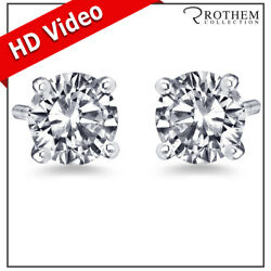 Andpound11000 Martini Setting Diamond Earrings 1.99 Ct White Gold D Si2 31451305