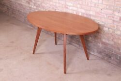Jens Risom For Knoll Mid-century Modern Walnut Dining Or Game Table, Newly Refin