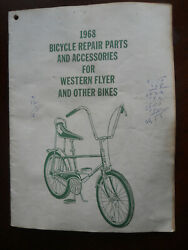 Vintage 1968 Bicycle Parts And Accessories Catalog Western Flyer Muscle Bikes Era