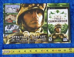 Field Commander Video Game Store Display Sign 2006 Sony Playstation Psp Promo