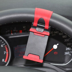 For Toyota Car Interior Gps Phone Holder Mount Stand Steering Wheel Clip Red X1