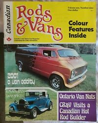 Rare Canadian Rods And Magazine Volume 1 Issue 9 Hot Rods Boogie Van Street